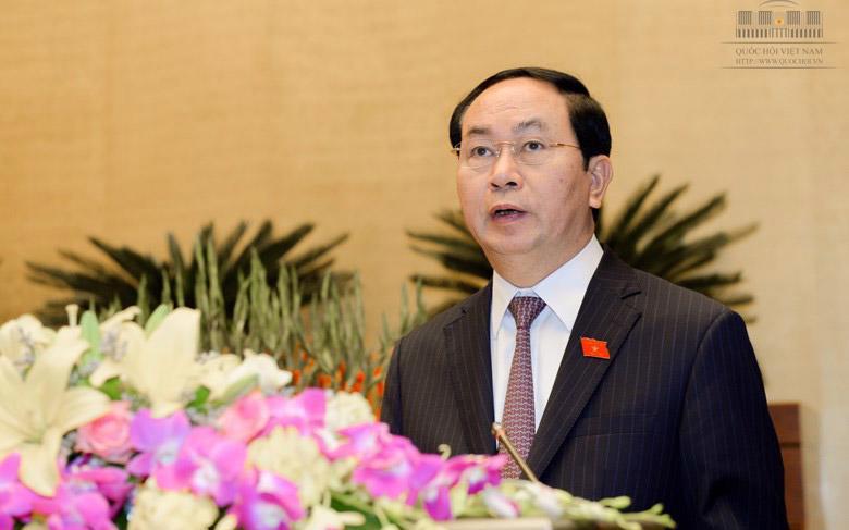 Ông Trần Đại Quang - người được Quốc hội khoá 13 bầu giữ chức Chủ tịch nước cách đây hơn ba tháng - tiếp tục là nhân sự duy nhất để bầu chức danh này.