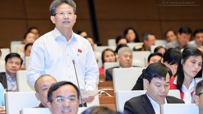 Đaij biểu Đỗ Văn Sinh phát biểu tại nghị trường.