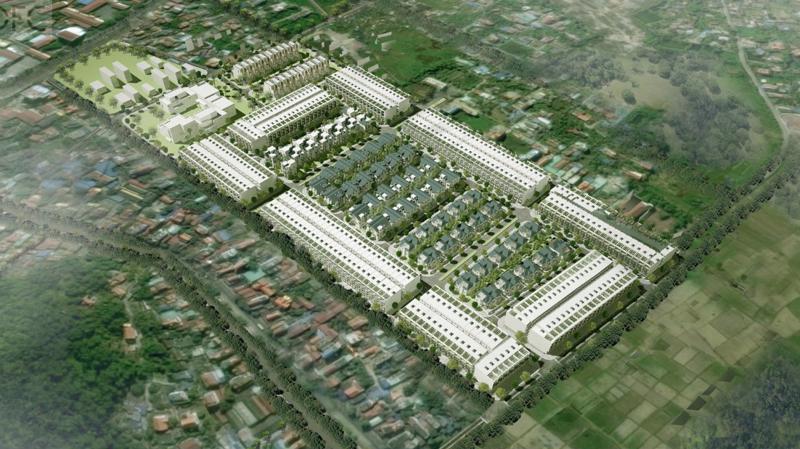 Dự án được xây dựng trên tổng diện tích đất hơn 127 ha với 353 lô đất liền kề, 86 lô đất biệt thự.