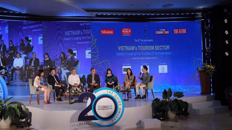 Toạ đàm tại Liên hoan các Doanh nghiệp Du lịch Việt Nam – The Guide Awards – lần thứ 20 - Ảnh: Xuân Khoa.