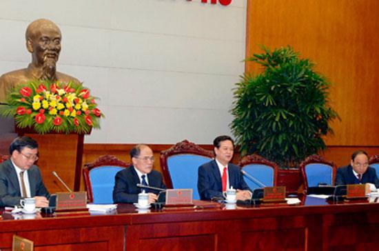 Thủ tướng Nguyễn Tấn Dũng chủ trì hội nghị - Ảnh: Chinhphu.vn.