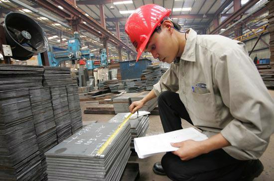 Tại một nhà máy của Zamil Steel Vietnam.