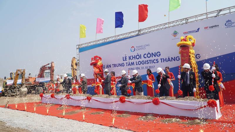 Lễ khởi công dự án Trung tâm Logistics Thăng Long - Ảnh: Việt Tuấn.