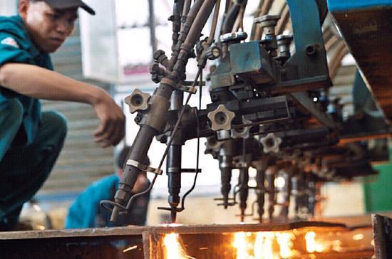 Công nghiệp dẫn đầu về tăng trưởng trong năm 2010.