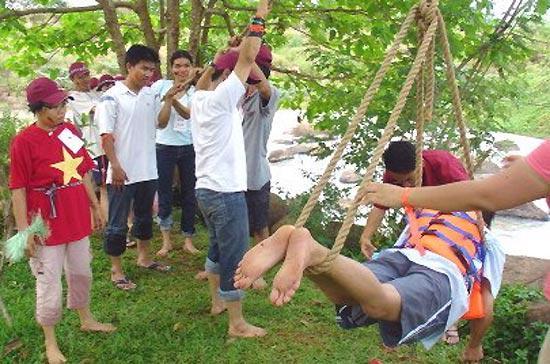 Một tour team-building của cán bộ, công nhân viên Sở Tư pháp Tp.HCM - Ảnh: Phúc Minh.