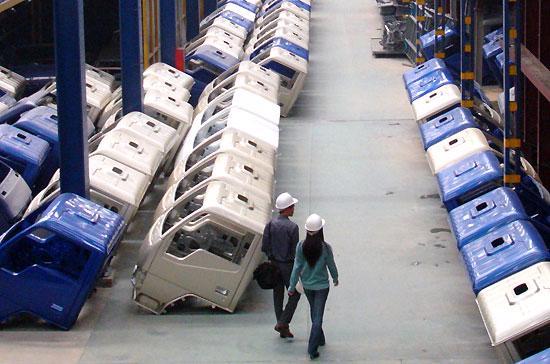 Ca-bin xe tải được đúc, dập tại nhà máy ôtô Vinaxuki - Ảnh: Đức Thọ.