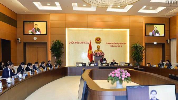 Uỷ ban Thường vụ Quốc hội tiếp tục phiên họp thứ 19.
