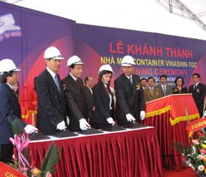 Lễ khánh thành nhà máy container TGC.