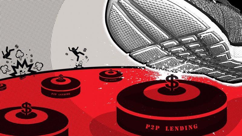 Bong bóng cho vay ngang hàng vỡ tung khiến hàng chục triệu nhà đầu tư mất trắng - Ảnh: SCMP.