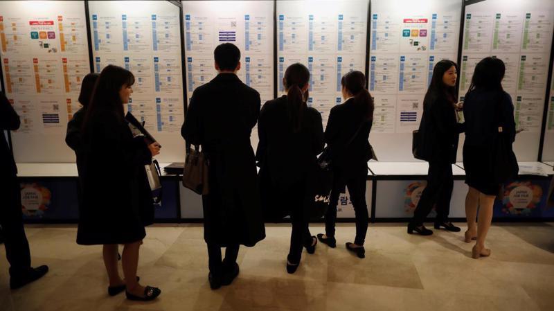 Một hội chợ việc làm Nhật Bản ở Seoul, tháng 11/2018 - Ảnh: Reuters.