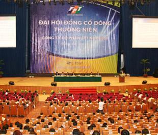 Đại hội cổ đông FPT đã thông qua chỉ tiêu kế hoạch lợi nhuận trước thuế năm 2009 của toàn Tập đoàn đạt 1.451 tỷ đồng, tăng 17,01% so với 1.240 tỷ đồng năm 2008.