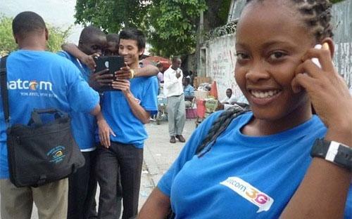 Mạng di động Natcom của Viettel tại Haiti.