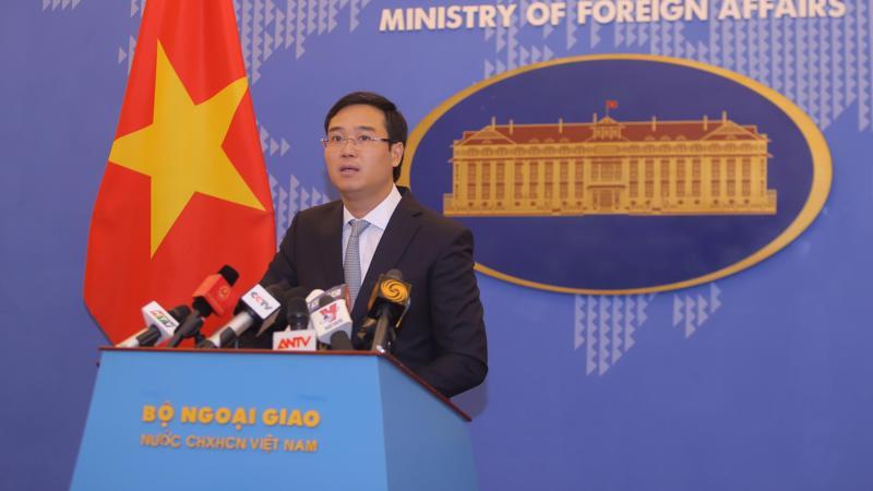 Phó phát ngôn viên Bộ Ngoại giao Ngô Toàn Thắng - Ảnh: NH.
