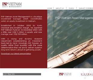 Trang chủ website của PXP Việt Nam.