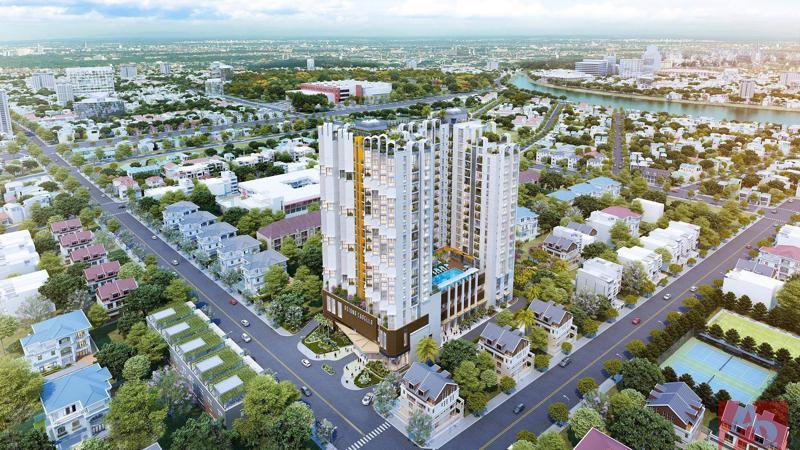 """Dự án căn hộ """"Doanh gia thịnh thế Asiana Capella"""" được tọa lạc ở mặt tiền đường Trần Văn Kiểu (khu dân cư Bình Phú, quận 6)."""