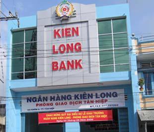 Một phòng giao dịch của Ngân hàng Kiên Long - một trong 9 ngân hàng đã hoàn thành kế hoạch tăng vốn lên 1.000 tỉ đồng.