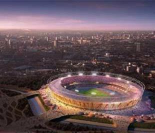 Mô hình sân vận động Olympic của London 2012.