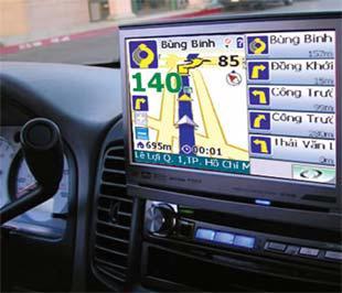 Thiết bị chuyên nghiệp gắn trên xe hơi cho ra màn hình LCD của xe.