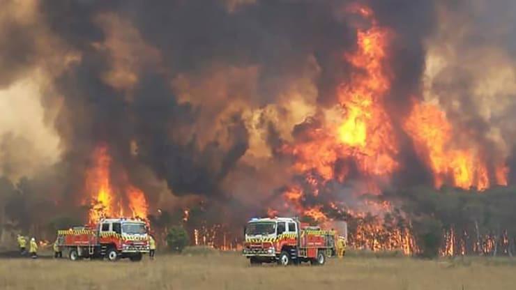 Lính cứu hỏa tiếp cận một đám cháy rừng ở New South Wales, Australia hôm 30/12 - Ảnh: AP.
