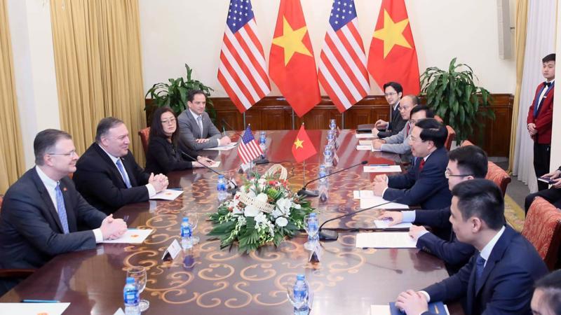 Ngoại trưởng Việt Nam - Hoa Kỳ hội đàm tại Hà Nội - Ảnh: Quang Phúc.