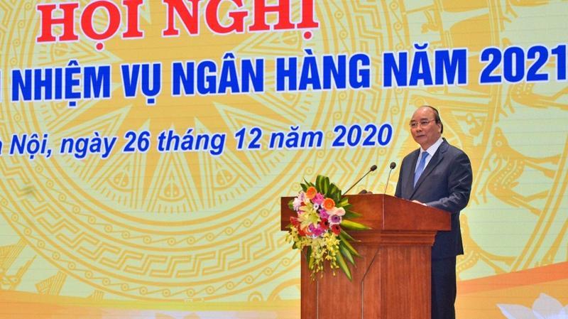 Thủ tướng Chính phủ Nguyễn Xuân Phúc phát biểu chỉ đạo tại hội nghị.