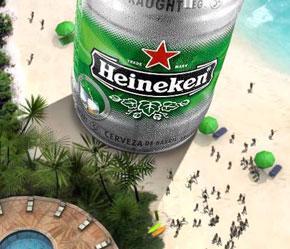 Heineken thành công không chỉ bởi chất lượng sản phẩm mà còn từ những ý tưởng quảng cáo độc đáo.