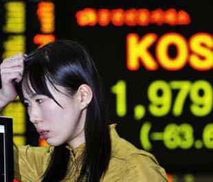 Chỉ số KOSPI đã giảm hơn 4% trong phiên giao dịch đầu tháng 9 - Ảnh: AP.