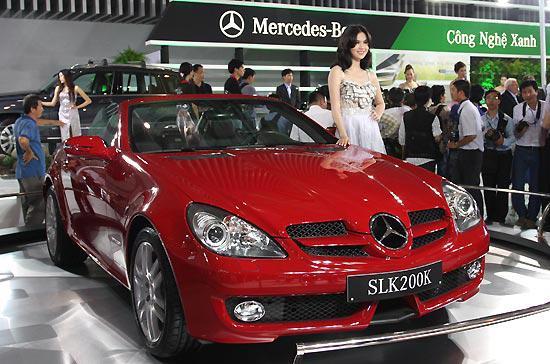 Mẫu xe SLK 200K được trưng bày tại Vietnam Motor Show 2009 - Ảnh: Đức Thọ.