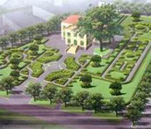Mô hình công viên cây xanh tại khu đất 42 Nhà Chung, Hoàn Kiếm, Hà Nội.
