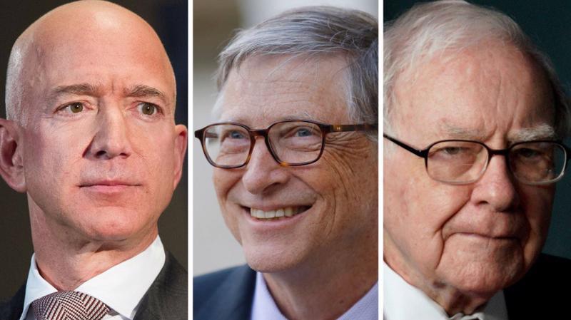 Jeff Bezos, Bill Gates, và Warren Buffett là 3 người giàu nhất tại Mỹ và toàn thế giới - Ảnh: AP Images.