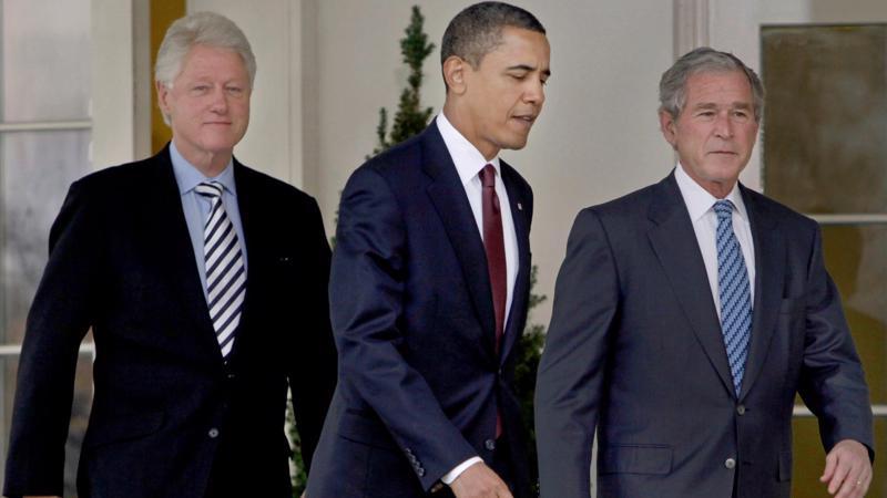 3 cựu Tổng thống Mỹ Bill Clinton, Barack Obama và George W. Bush (từ trái sang phải) - Ảnh: AP.