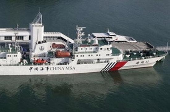 Việc Trung Quốc đưa tàu Hải tuần 31 đi qua biển Đông đã khiến tình hình khu vực này thêm căng thẳng - Ảnh: AP.