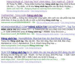 """Cụm từ """"hàng xách tay"""" nhận được gần 1 triệu kết quả tìm kiếm trên Google."""