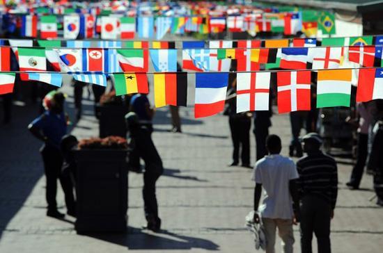 Nam Phi rộn ràng chuẩn bị cho World Cup 2010 - Ảnh: Getty.