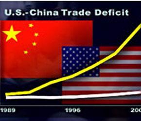 Thâm hụt thương mại của Mỹ đối với Trung Quốc đã tăng lên mức kỷ lục 232,5 tỷ USD trong năm 2006.