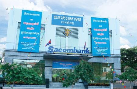 Trụ sở chi nhánh Sacombank tại Phnom Penh, Campuchia.