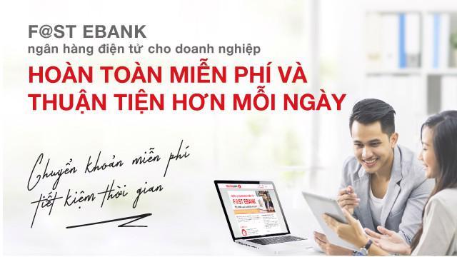 Với ngân hàng điện tử F@st Ebank, Techcombank có thể đồng hành cùng doanh nghiệp trong việc giải quyết những vấn đề về tài chính một cách chính xác, an toàn và nhanh chóng.