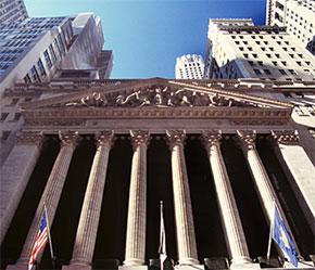 Mặt trước Sở Giao dịch Chứng khoán New York (NYSE).
