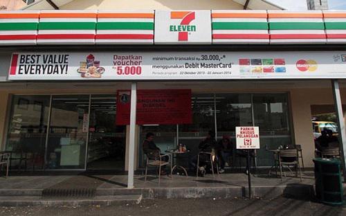 7-Eleven hiện có 161 cửa hàng tại Indonesia - Ảnh: Jakarta Post.<br>