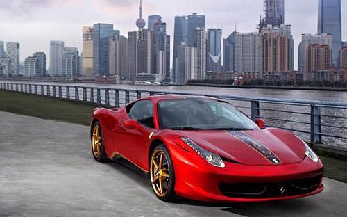 Ferrari thiết kế riêng mẫu 458 Italia phiên bản Rồng cho thị trường Trung Quốc.<br>