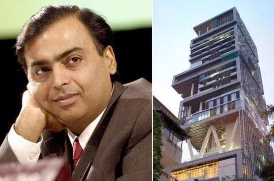Tỷ phú Mukesh Ambani và dinh thự trị giá hơn 1 tỷ USD của ông.