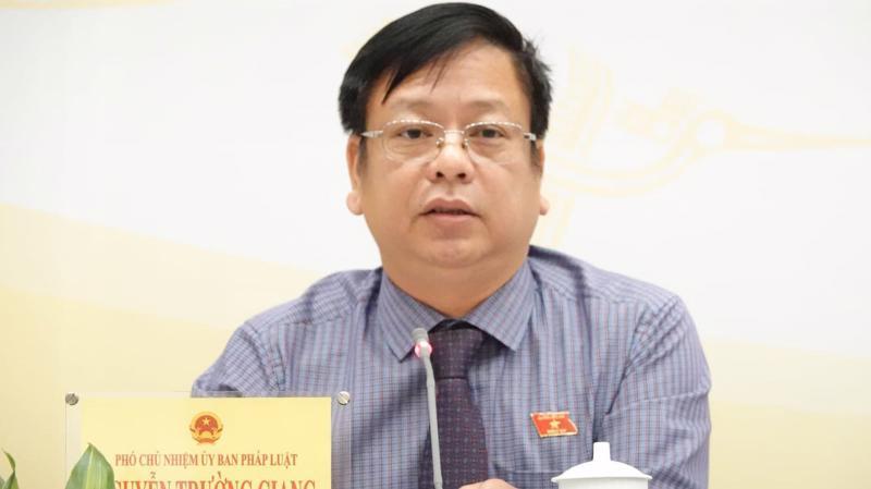Phó chủ nhiệm Uỷ ban Pháp luật Nguyễn Trường Giang - Ảnh: Quang Phúc