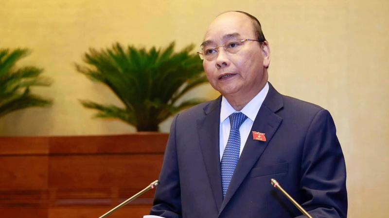 14h45 phút ngày 8/11 Thủ tướng báo cáo giải trình thêm một số vấn đề được đại biểu và cử tri quan tâm, trước khi trả lời chất vấn trực tiếp - Ảnh; Quang Phúc.