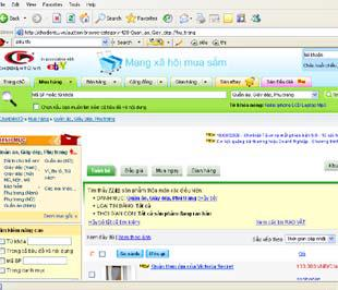 Giao diện của trang www.chodientu.vn.