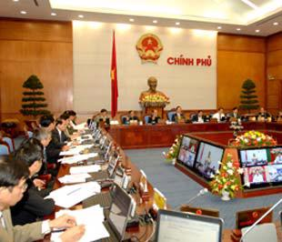 Đây là lần đầu tiên Chính phủ họp trực tuyến với các địa phương - Ảnh: Website Chính phủ.