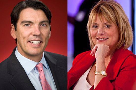 CEO AOL Tim Amstrong và cựu CEO Yahoo! Carol Bartz.