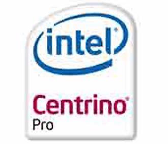 Biểu tượng của Intel Centrino Pro.