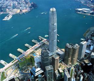 Đặc khu hành chính Hồng Kông (Trung Quốc) nhìn từ trên cao.