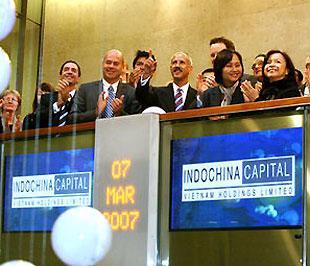 Ngày 7/3/2007, Indochina Capital trở thành công ty ở Việt Nam đầu tiên niêm yết trên thị trường chứng khoán London.