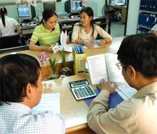 Cán bộ thuế hướng dẫn khai thuế thu nhập cá nhân tại Cục Thuế Tp.HCM - Ảnh: TT.
